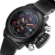 Luxury Military Quartz Chronograph Men Watch Analog Sport Wristwatch Waterproof