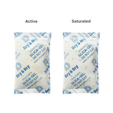 "100 gram X 200 PK ""Dry & Dry"" Food Grade Orange Indicating Silica Gel Packets"