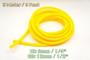 3 METRE YELLOW SILICONE VACUUM HOSE AIR ENGINE BAY DRESS UP 6MM FIT FORD