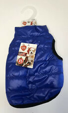 New listing Pet Central Double Side Dog Winter Jacket Size Extra Small Blue With Gray - Nwt