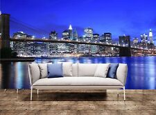 3D Wall Prints Brooklyn Bridge and Manhattan sky Photo Art Wallpaper Mural
