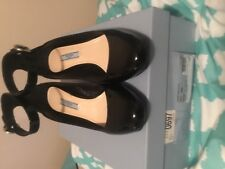 Prada patent ankle wrap shoes euc 8.5 retails 750.00
