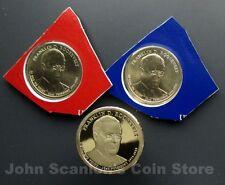 2014 F. Roosevelt Dollars P&D BU (Mint Plastic) + S-Proof 3-Coin Set