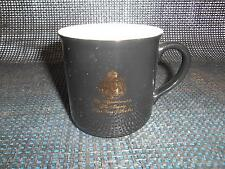 Old GEVALIA KAFFE Coffee Cup Mug Black King of Sweden Advertising