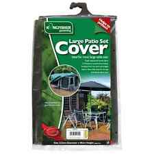 EXTRA LARGE SIZE - KINGFISHER Garden Patio Table + Chair Set Cover Protector