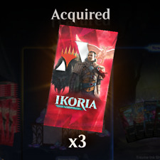 MTG Arena Code for 3 Booster Packs of Ikoria: Lair of Behemoths 600 Gem Value!