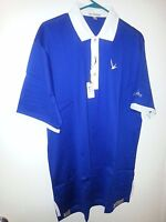 Golf Shirt, Peter Millar Grey Goose, Men's S/S, Blue/White Cotton Polo CLOSEOUT!