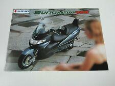Prospectus Catalogue Brochure Moto Suzuki 400 Burgman 1999 Espana