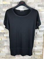 Mint Velvet Ladies Size 10 Black T Shirt Top