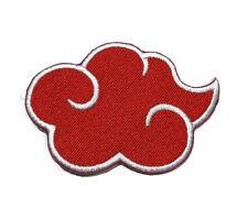 NEW NARUTO NINJA THE AKATSUKI RED LOGO EMBROIDERED SEW IRON ON PATCH SHIRT PO604