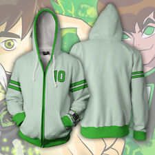 Ben 10 Unisex Cosplay Hoodie 3D Print Sweatshirt Zipper Jacket Tops Gifts