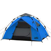 2 Mann Zelt QEEDO Quick Ash 2 Sekundenzelt Campingzelt Igluzelt Pop Up - blau