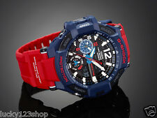 GA-1100-2A RED BLUE CASIO G-SHOCK GRAVITY DEFIER TOUGH ANALOG 200M NEW