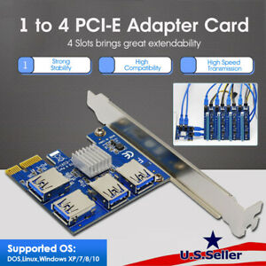 PCIe 1 to 4 PCI express 16X slots Riser Card PCI-E 1X to External 4 PCI-e Slot