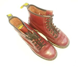 Doc Martens Womens Size 10 Mens Size 9 Air Wair Cherry Leather Boots