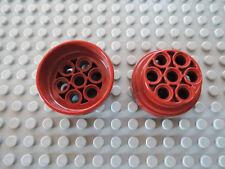 Lego 2 x Felge 60208 dunkelrot 31 mm xD.15 7676 75004 10198