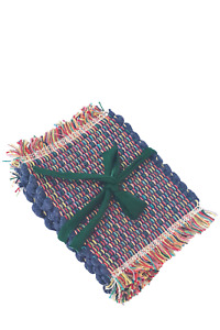Hand Woven Recycled Fabric Zero Waste Coasters by From Belo