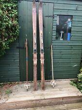 More details for vintage skis ,tyrolia, with vintage poles