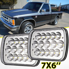 """2X 7X6"""" 5X7"""" 75W CREE LED Headlight Bulbs High Low Beam Sealed H4 For Chevy S10"""