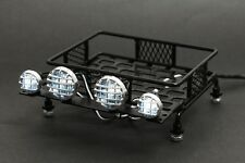 Jazrider 1/10 RC Steel Luggage Roof Rack w/LED Light Car Buggy Detailed Up Parts