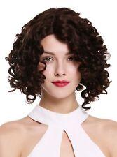 Ladies' Wig Human Hair Lace Teil-Mono Parting Curls Black Brown Short