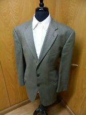 Mens Blazer Sport coat Jacket Joseph Abboud 44r Silk & Wool  Olive Check S-#148