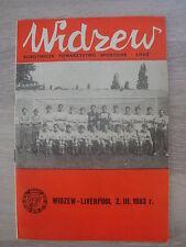 Original Football Programme Liverpool F.C. Widzew Lodz 1983 European Cup Poland