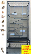 "74"" Extra Large Tall 5 Level Ferret Chinchilla Sugar Glider Rat Hamster Cage 634"