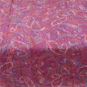 Sanskriti Vintage Pink Sarees 100% Pure Silk Printed Sari Floral Craft Fabric