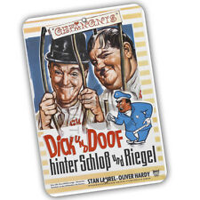 Laurel & Hardy Dick Und Doof German Movie Poster Reproduction 8x12 Aluminum Sign