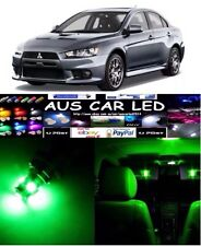 Mitsubishi Lancer Evo X interior led lighting kit bright Green Colour