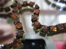 4ft GORGEOUS Vintage Swarovski Rhinestone Chain Alternating Topaz 3mm