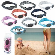 Dooky Baby Banz Baby-Sonnenbrille 0-2 J. 100% UV-Schutz Kopfband EU Zertifiziert