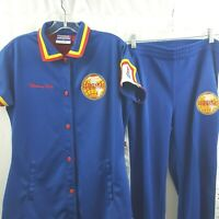 Harlem Globetrotters Uniform Premium Fubu Blue Red Rip Off Pants Top Basketball