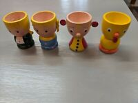 Vintage Figural Wood Egg Cups