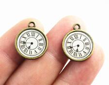 Clock Face Antique Bronze Charms   20x16mm   8pcs