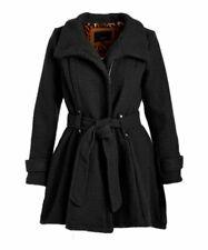 MSRP $300 Steve Madden Black Drama Trench Coat Size 3X