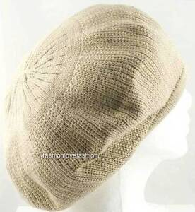 1 Piece 100% Cotton Rasta Tam Beret Cap Hat Crown Reggae Marley Jamaica Size M/L