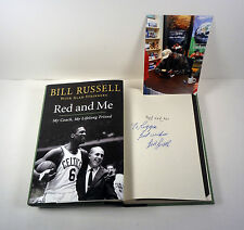 BILL RUSSELL CELTICS SIGNED AUTOGRAPH RED AND ME 1ST/1ST HC BOOK PROOF COA
