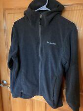 Euc Columbia Boy's 14/16 Hooded Fleece Zip Grey Jacket