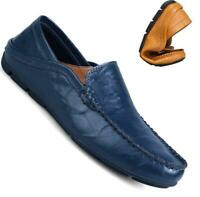 Oxfords Men Driving Casual Boat Leather soft Shoes Moccasin Slip On Loafers New