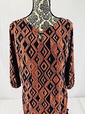 Enfocus Studio Women's KeyHole Neckline 3/4 Sleeve Dress Size 10