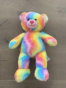 "Build-A-Bear Rainbow Bear Plush Stuffed Animal 17"" Tie Dye Waves"