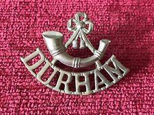 1952 Pattern Durham Light Infantry DLI White Metal Shoulder Title Badge 46/20