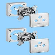 2x Antennendose 3fach SAT Kabel Dose Enddose HDTV UHD Class A 3D Auf & Unterputz