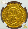 """SPAIN 1723 8 ESCUDOS """"ONLY 3 KNOWN!"""" NGC 55 GOLD DOUBLOON SEVILLE TREASURE COIN"""