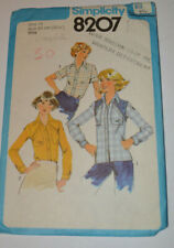 sewing pattern shirt blouse with pockets size 10