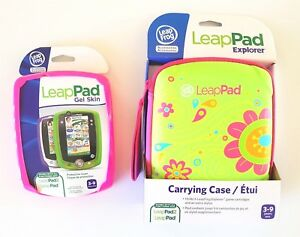 New Genuine LeapFrog LeapPad Accessories - Carrying Case + Gel Skin Leap Frog