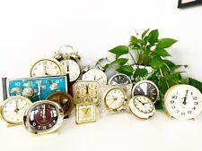 Lot of 14 Vintage Alarm Clocks for Props or Parts