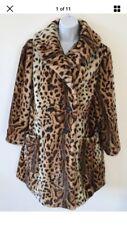 Women's TOPSHOP Leopard stampa cappotto in pelliccia sintetica misura 12